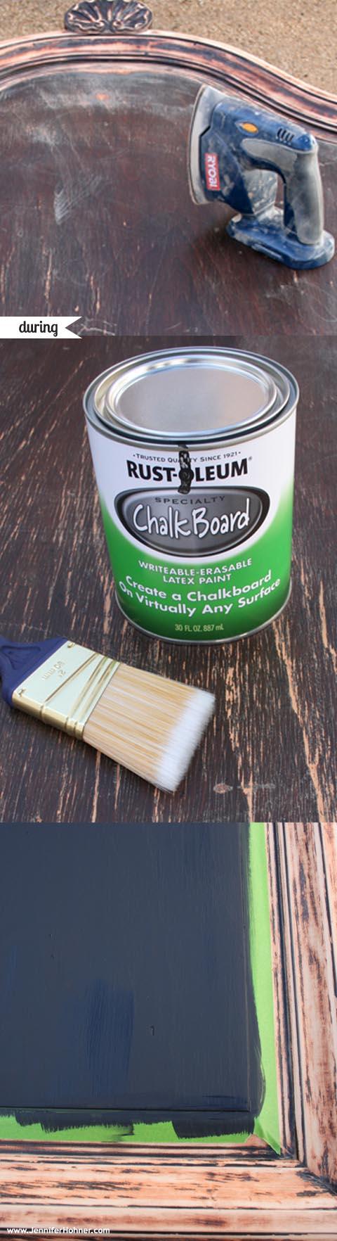 DIY_Chalkboard_during